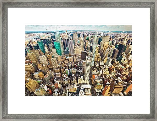 New York City Midtown Skyline Framed Print