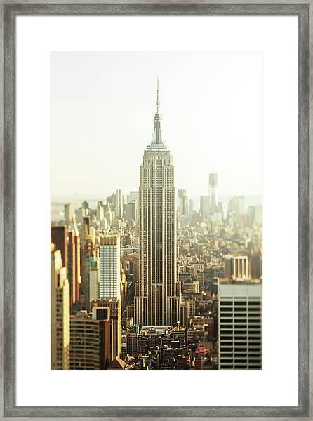 New York City Midtown Skyline, Usa Framed Print