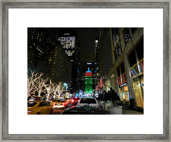 Framed Print featuring the photograph New York City - Park Ave. 001 by Lance Vaughn