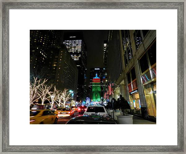 New York City - Park Ave. 001 Framed Print