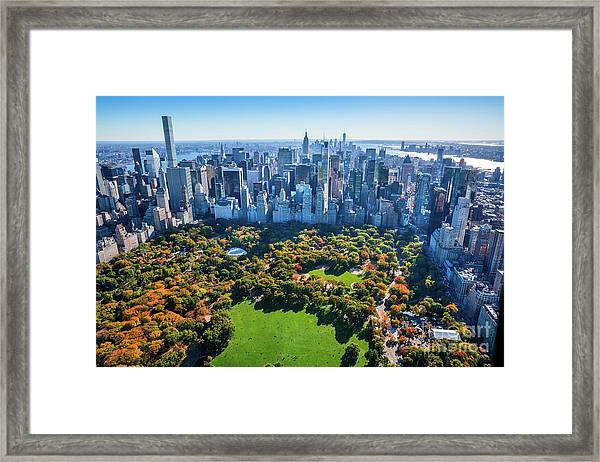 New York City Skyline, Central Park Framed Print