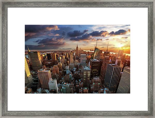 New York City Skyline Framed Print