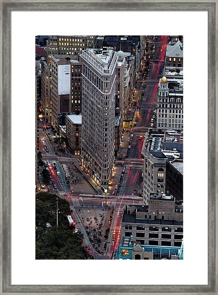 New York City Skyline Flatiron Building Framed Print