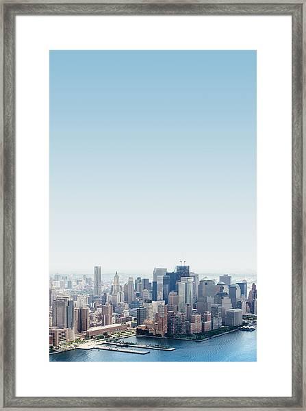 New York City Skyline From The Framed Print