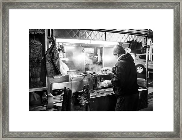 New York City Street Vendor Framed Print