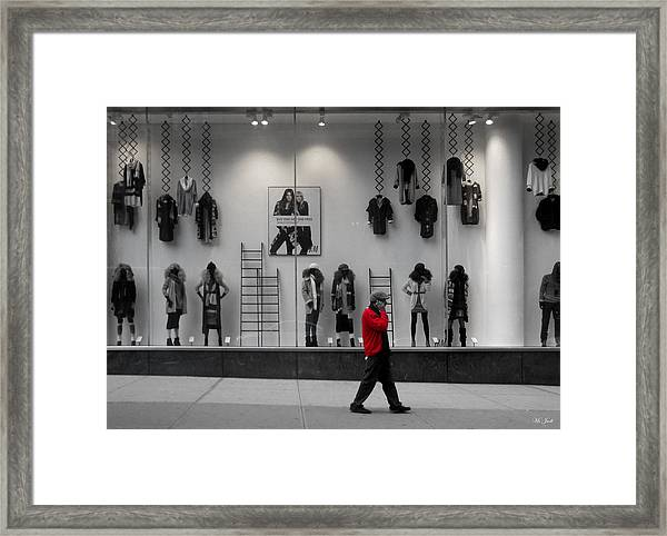 New York City Window Display Framed Print
