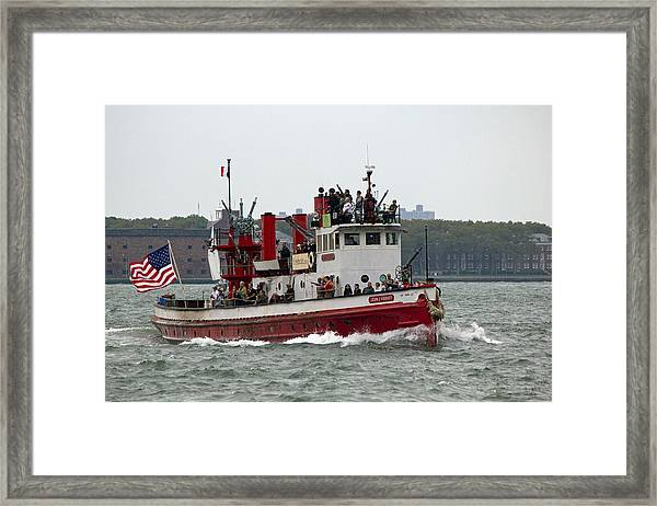 New York Fire Boat Nyc Framed Print