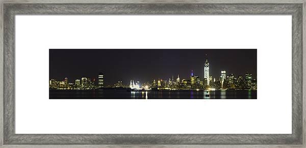 New York Harbor Framed Print