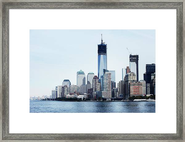 New York Harbour View Framed Print
