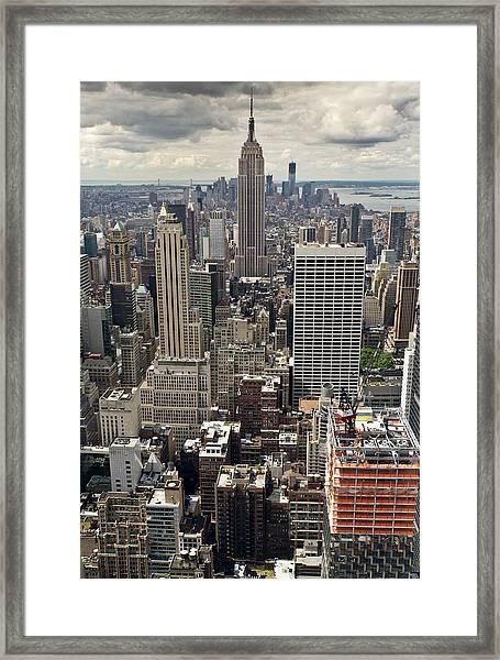 New York Midtown Skyscrapers Framed Print