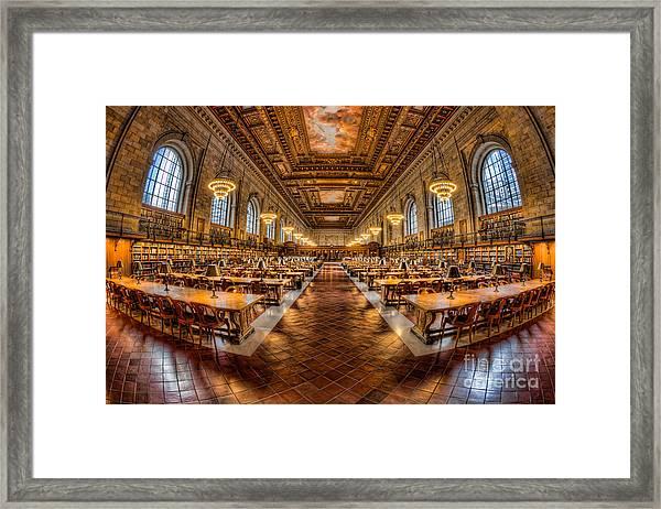 New York Public Library Main Reading Room Vii Framed Print