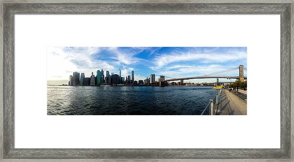 New York Skyline - Color Framed Print