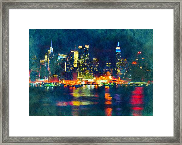New York State Of Mind Abstract Realism Framed Print