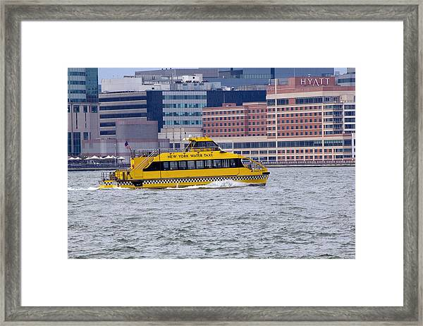 New York Water Taxi Framed Print
