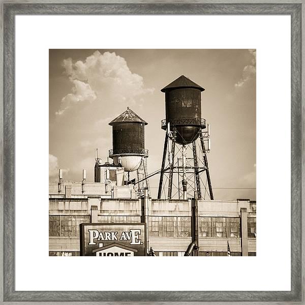 New York Water Tower 8 - Williamsburg Brooklyn Framed Print