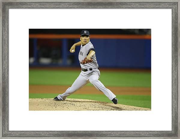 New York Yankees V New York Mets Framed Print by Al Bello
