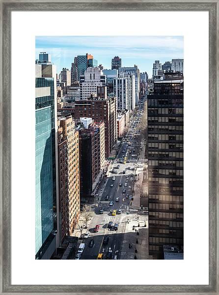 New York, York Ave Framed Print