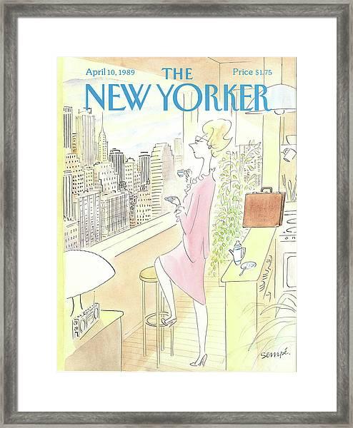 New Yorker April 10th, 1989 Framed Print