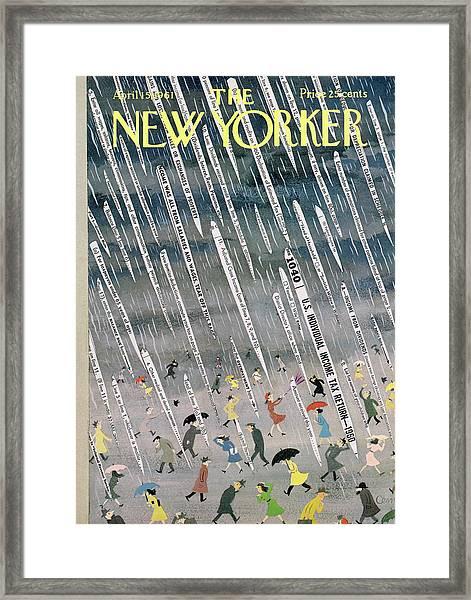 New Yorker April 15th, 1961 Framed Print