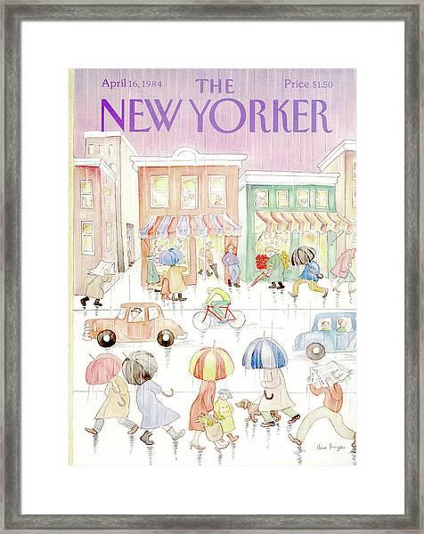 New Yorker April 16th, 1984 Framed Print