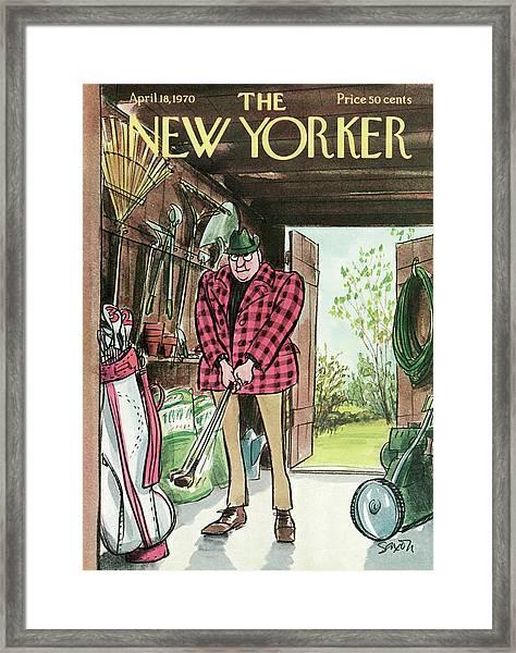 New Yorker April 18th, 1970 Framed Print