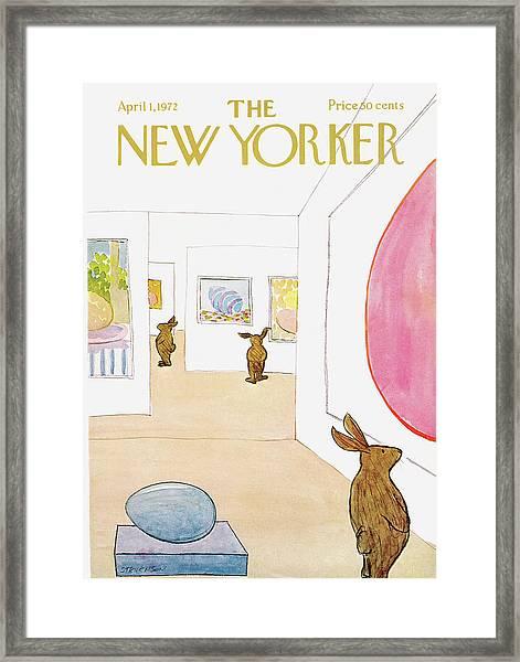 New Yorker April 1st, 1972 Framed Print