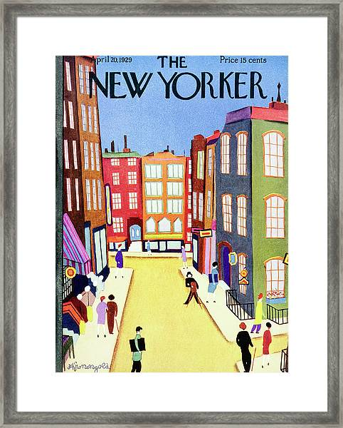 New Yorker April 20 1929 Framed Print by Arthur K. Kronengold