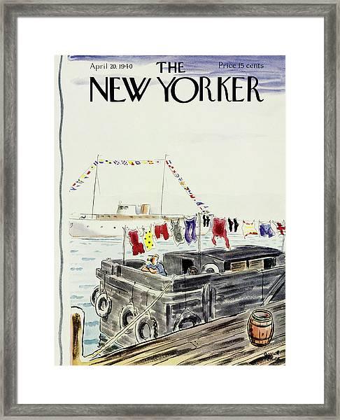 New Yorker April 20 1940 Framed Print by Garrett Price