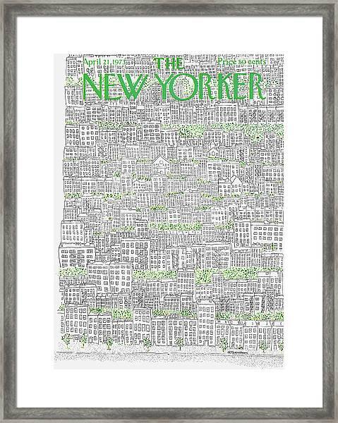 New Yorker April 21st, 1973 Framed Print