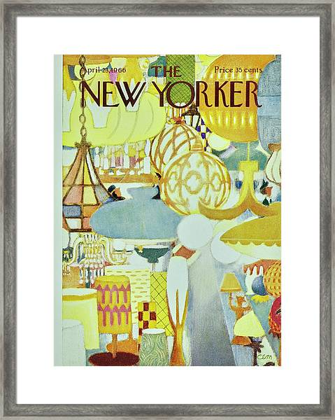 New Yorker April 23rd 1966 Framed Print by Charles Martin