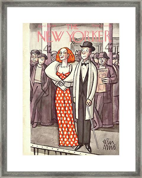 New Yorker April 24th, 1937 Framed Print