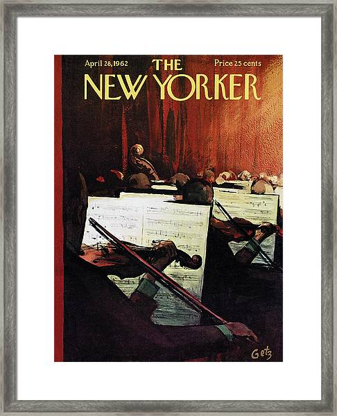 New Yorker April 28th, 1962 Framed Print