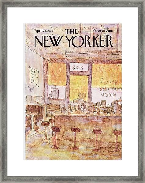 New Yorker April 28th 1975 Framed Print by James Stevenson