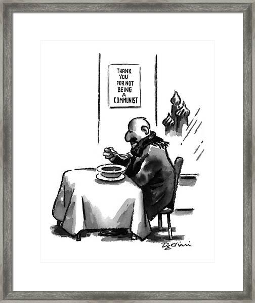 New Yorker April 28th, 1997 Framed Print