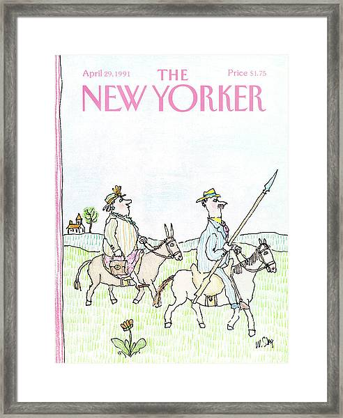 New Yorker April 29th, 1991 Framed Print