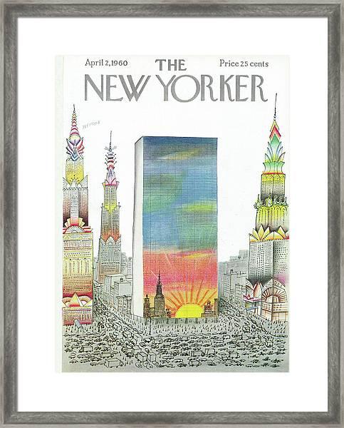 New Yorker April 2nd, 1960 Framed Print