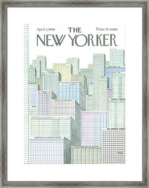 New Yorker April 2nd, 1966 Framed Print
