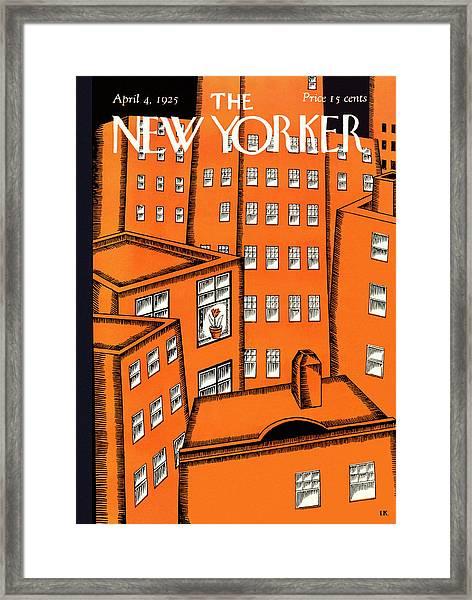 New Yorker April 4 1925 Framed Print by Ilonka Karasz