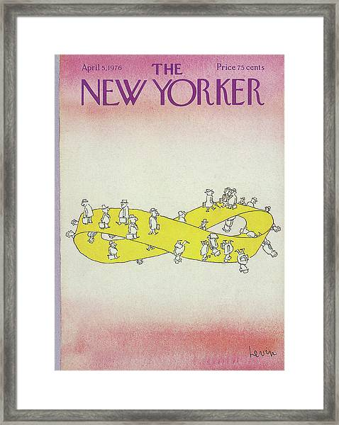 New Yorker April 5th, 1976 Framed Print