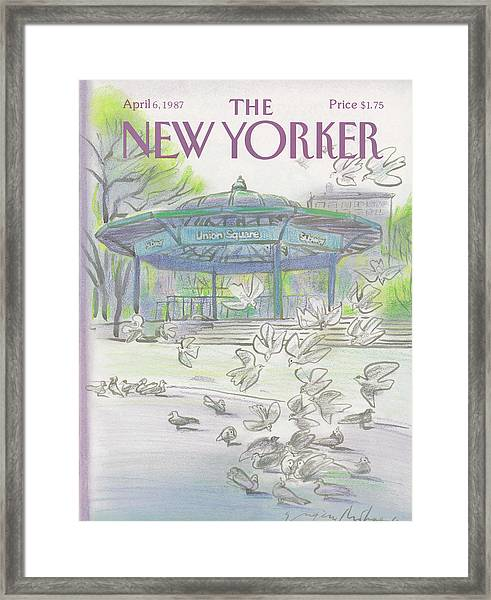 New Yorker April 6th, 1987 Framed Print
