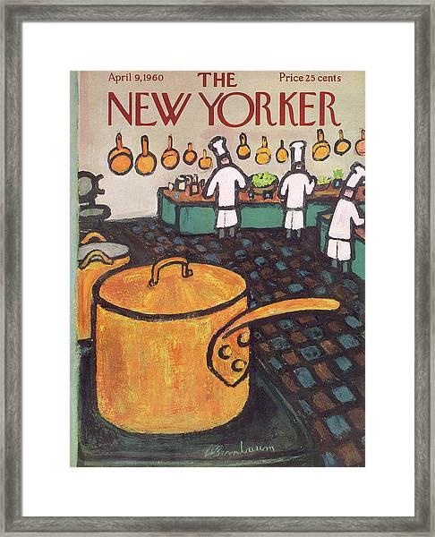 New Yorker April 9th, 1960 Framed Print