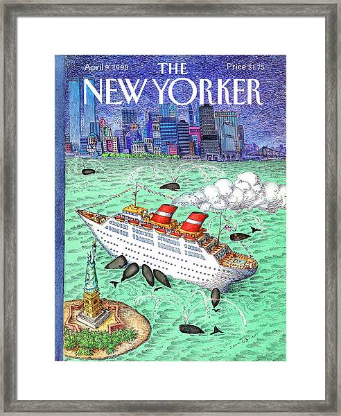 New Yorker April 9th, 1990 Framed Print