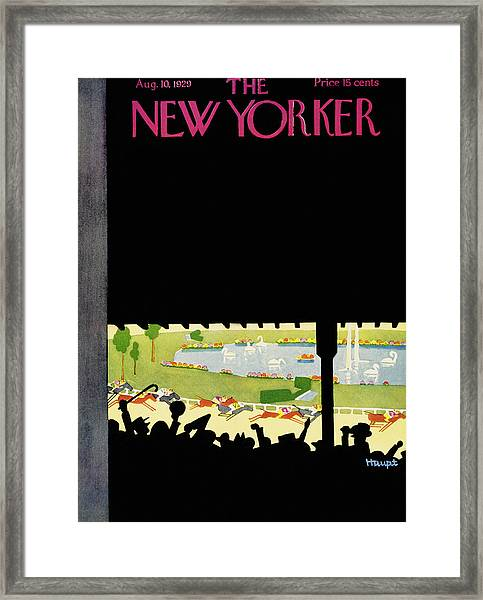 New Yorker August 10 1929 Framed Print by Theodore G. Haupt