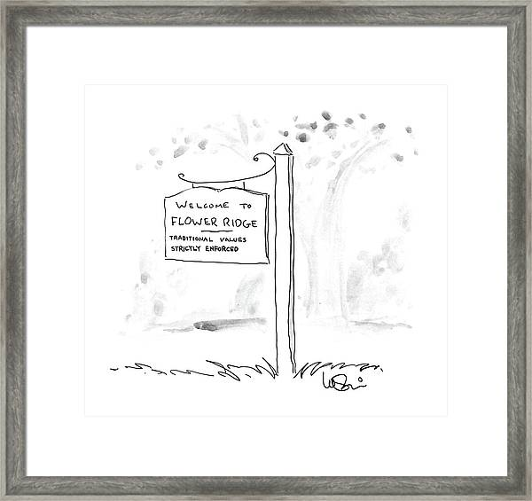 New Yorker August 11th, 1986 Framed Print