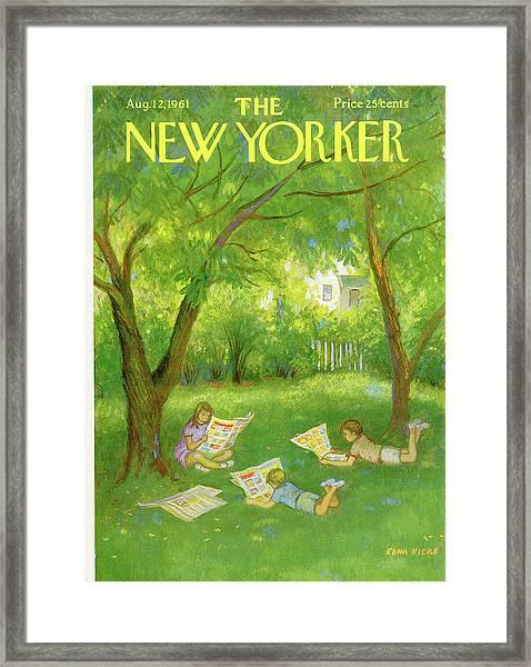 New Yorker August 12th, 1961 Framed Print