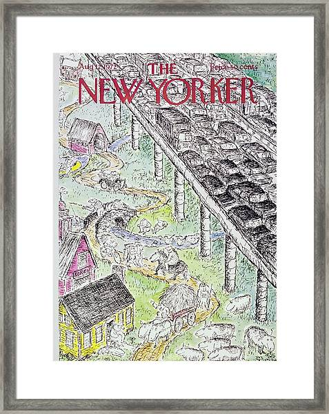 New Yorker August 12th 1972 Framed Print