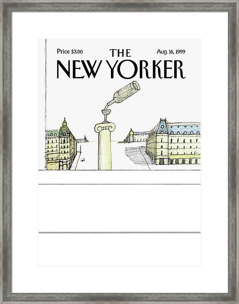 New Yorker August 16th, 1999 Framed Print