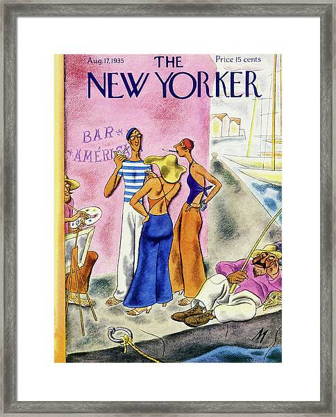 New Yorker August 17 1935 Framed Print