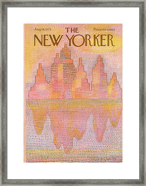 New Yorker August 18th, 1975 Framed Print