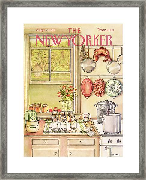 New Yorker August 19th, 1985 Framed Print